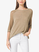 Michael Kors Metallic Woven Sweater Plus Size