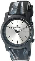 Rip Curl Men's A2698-CHA Cambridge ABS Silicone Analog Display Analog Quartz Grey Watch