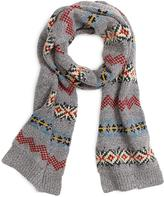 Brooks Brothers Fair Isle Scarf