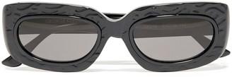 George Keburia Rectangle-frame Textured Acetate Sunglasses