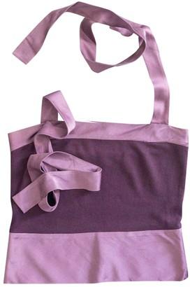 Alberta Ferretti Purple Silk Top for Women