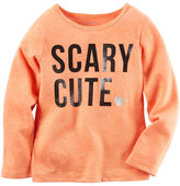 Carter's Long-Sleeve Scary Cute Neon Tee