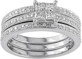 Stella Grace Diamond Engagement Ring Set in 10k White Gold (3/8 Carat T.W.)