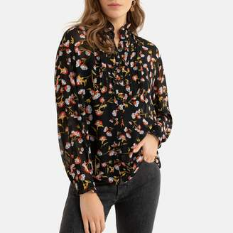 Floral Print Blouse with Long Sleeves