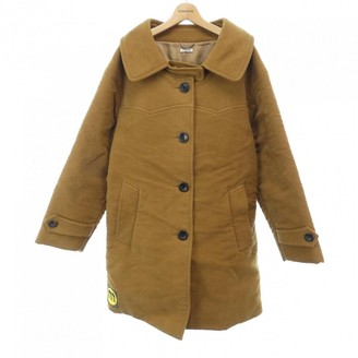 Miu Miu Camel Cotton Coat for Women
