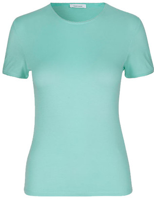Samsoe & Samsoe Aqua Haze Marsha Ss 10746 T-Shirt - S - Teal/Blue/Green