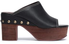 See by Chloe Studded Leather Platform Mules