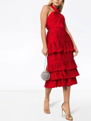 Red Eccentric Vibes Midi Dress