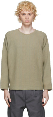 Homme Plissé Issey Miyake Beige Knit Rustic Sweater