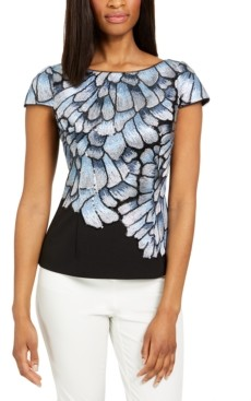 Adrianna Papell Embroidered Top