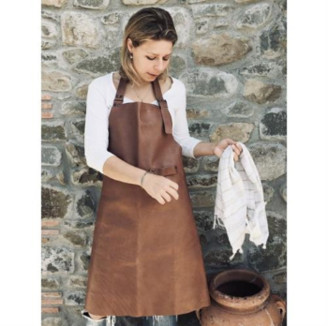 Made by Mama - Natural Leather Apron - natural   leather - Natural/Natural