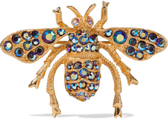 Ben-Amun 24-karat Gold-plated Crystal Brooch