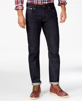 Tommy Hilfiger Men's Selevedge Straight-Fit Dark Wash Jeans