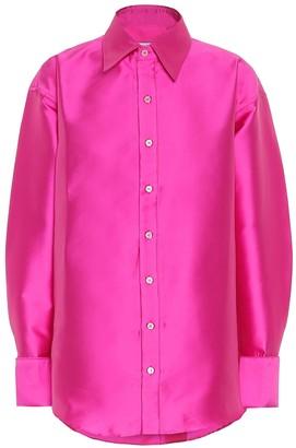 Matthew Adams Dolan Satin-twill oversized shirt