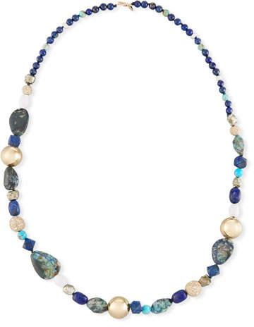 Alexis Bittar Chrysocolla, Lapis & Turquoise Beaded Necklace