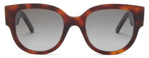Christian Dior Wildior Round Tortoiseshell-effect Sunglasses - Tortoiseshell