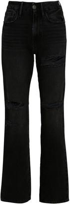 Frame Le Mini Boot Distressed Jeans