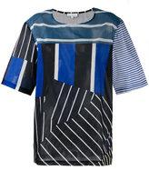 Pierre Louis Mascia Pierre-Louis Mascia - multi-stripe T-shirt - women - Cotton - XL