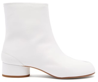 Maison Margiela Tabi Split-toe Leather Boots - White