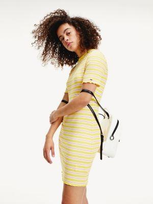 Tommy Hilfiger Stripe Rib Viscose Mini Dress