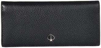 Kate Spade Polly Bifold Continental Wallet (Black) Wallet