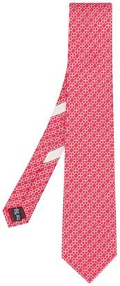 Salvatore Ferragamo Gancini chain print silk tie