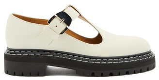 Proenza Schouler Tread-sole T-bar Leather Loafers - White