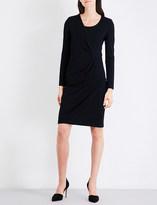 Armani Collezioni Wrap-detail stretch-woven dress