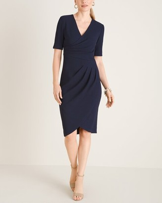 Adrianna Papell Gathered Knit Shift Dress__