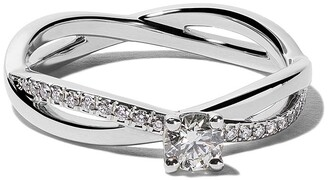 De Beers Platinum My First Infinity solitaire diamond ring