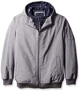 Tommy Hilfiger Men's Tall Size Soft Shell Fashion Bomber With Contrast Bib and Hood