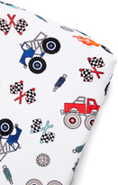 White Truck Minky Changing Pad Cover