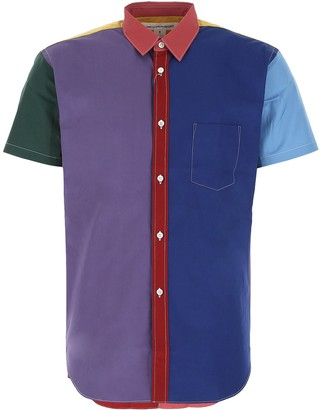 Comme des Garçons Shirt Colour Block Short-Sleeve Shirt