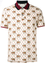 Gucci elephant print polo shirt