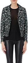 Saint Laurent Women's Floral-Print Moto Jacket