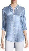 Rails Charli Striped Long-Sleeve Shirt, Bluebell/White Stripe