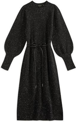 Ted Baker Faustaa Tie Waist Knit Midi Dress