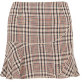 Etoile Isabel Marant Jevil Plaid Linen Mini Skirt - Ecru
