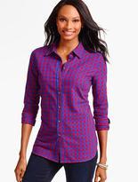 Talbots Gala Herringbone Plaid Shirt