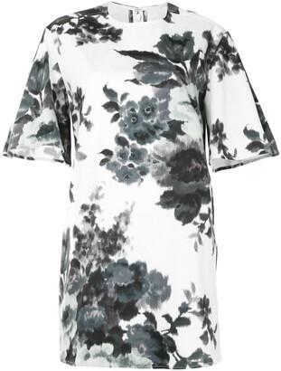 Carolina Herrera Floral Shift Mini Dress