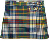 Ralph Lauren 2-6X Pleated Madras Skirt