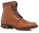 Mantaray Tan Leather Lace Up Boots