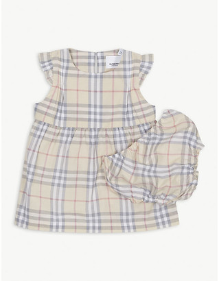 Burberry Reanne cotton check dress 1-18 months