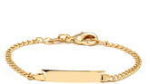 Sweet & Soft Gold Plain Baby ID Bracelet