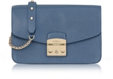 Furla Dark Avion Metropolis Small Leather Shoulder Bag