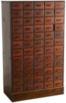 Rejuvenation Large 60-Drawer Card File Cabinet