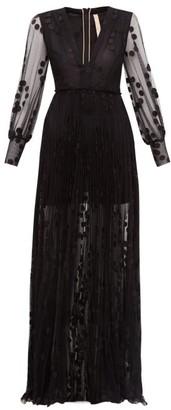 Maria Lucia Hohan Anastasia Polka-dot Tulle Maxi Dress - Black