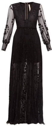 Maria Lucia Hohan Anastasia Polka-dot Tulle Maxi Dress - Womens - Black