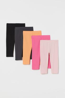 H&M 5-pack Cotton Leggings - Orange