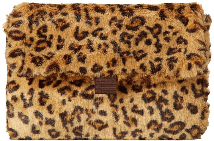 Hat Attack Faux Fur Clutch (Black) - Bags and Luggage
